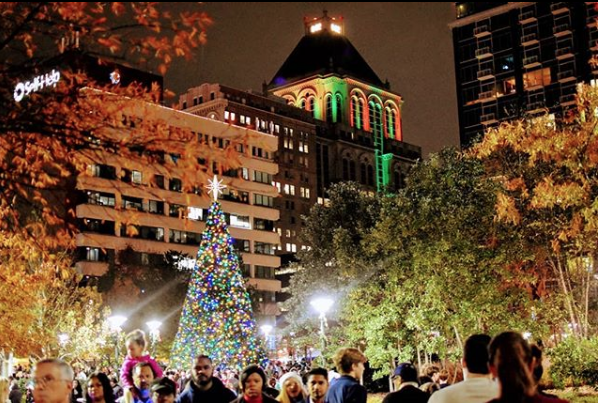 Downtown in December/Festival of Lights